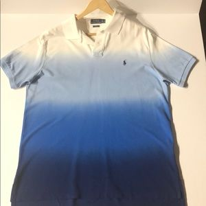 Men's Blue Ombre Polo Shirt